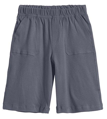 City Threads Little Boys' 3-Pocket Soft Jersey Shorts Perfect for Sensitive Skin SPD Sensory Friendly Clothing, Concrete 5