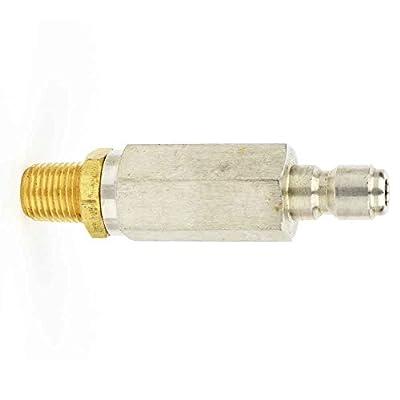 Interstate Pneumatics PW7160 1/4 inch Stainless Steel Inline Water Filter Male NPT