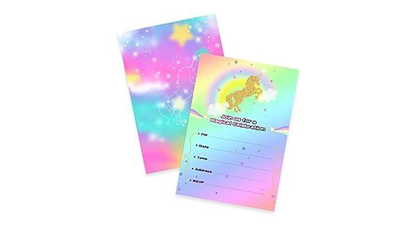 Tarjeta de invitación de unicornio de Harlica, 10 unidades ...