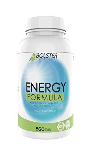 Bolster Nutrients Energy Formula | Caffeine Free Vitality for men and women | Dietary Supplement – Gluten Free – Non GMO | Increases Energy, Mood & Endurance