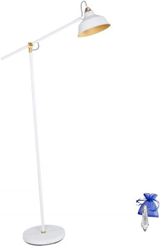 Lámpara de pie Color blanco mate oro E27 Vintage La Industria ...