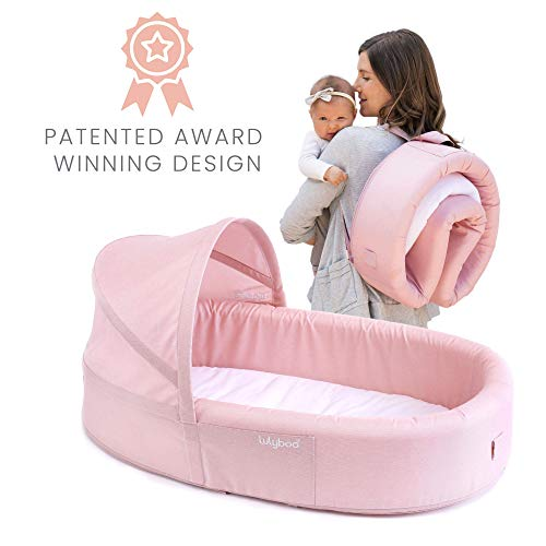 Best Prices! Lulyboo Bassinet to-Go Infant Travel Bed - On The Go Baby Lounger Backpack - Combines C...