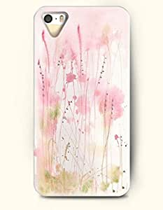 Phone Case For iPhone 5 5S Pink Weeds - Hard Back Plastic Case / Oil Painting / OOFIT Authentic