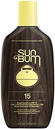Sun Bum Original SPF 15 Sunscreen Lotion   Vegan and Reef Friendly (Octinoxate & Oxybenzone Free) Broad Spectrum Moisturizin