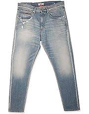 تومي جينز بنطال للرجال -  لون ازرق -  مقاس 33 EU