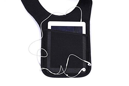 OneTigris Multi-purpose Hidden Underarm Shoulder Bag Interphone Holder Concealed Pouch (Right)