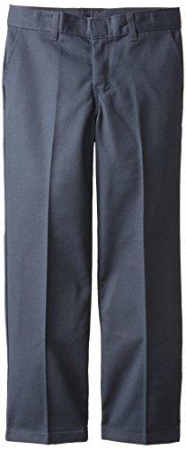 Dickies Big Boys' Flex Waist Flat Front Pant with Logo, Dark