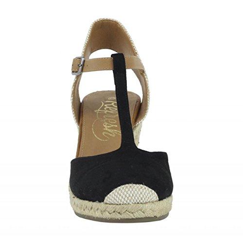 Zapatos de cuña de Mujer REFRESH 62090 ANT NEGRO