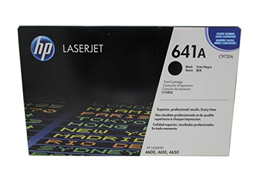 HP C9720A 641A Original New Black Toner For Color LaserJet 4600 4610 4650 - 9,000 Pages