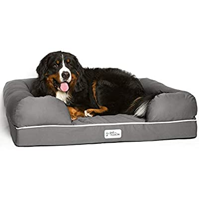 PetFusion-Ultimate-Dog-Bed-orthopedic-Memory-Foam-Multiple-SizesColors-medium-firmness-Waterproof-liner-YKK-zippers-more-Breathable-35-cotton-cover-Cert-Skin-Contact-Safe-2yr-Warranty