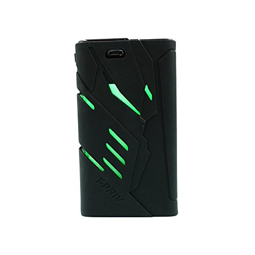 Price comparison product image DSC-Mart Protective Case for SMOK T-PRIV 220W, Silicone Skin Cover Sleeve Wrap Fits TPRIV 220 Watt (Black)