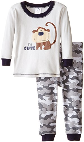 Gerber Baby Boys' Cute Me 2 Piece Cotton Pajama, Monkey, 12 Months]()