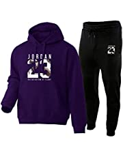 NBNB Tracksuit Fashion Jordan 23# Men Sportswear Two Piece Sets Hoodie+Pants Sporting Suit Male