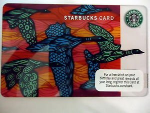 Starbucks 2010 Fall Geese Calling Flying Migrating Gift Card No Cash Value Orig.