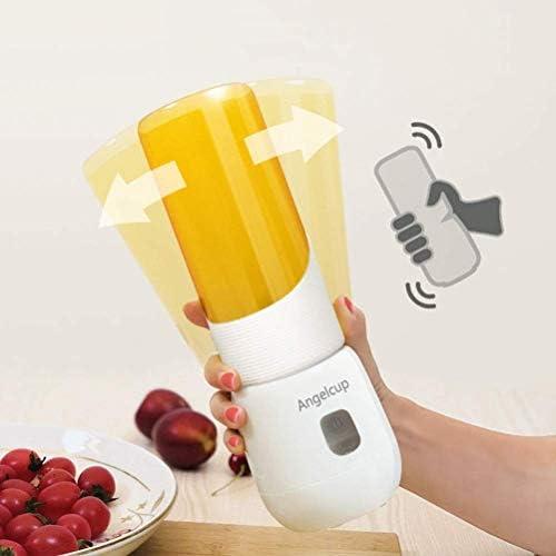 Batidora de Frutas Portátil Juicer Personal Juicer Cup Al Aire Libre Pequeño Mezclador Usb Recargable Mezclador de Batidos para el Hogar 6 Cuchillas 320 Ml, O&YQ