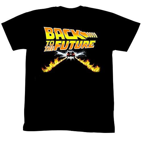 Homme Vers Firetracks Futur Petite Le shirt Noir Classics Delorean Retour American Tee Pour wqZvExR
