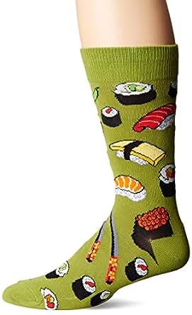 """Socksmith Mens Novelty Crew Socks """"Sushi"""" - Fern"""