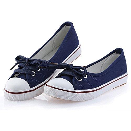 Redonda Lona Tac Punta Minetom Moda Mujer Zapatos Chicas PqxtxwZ1Y