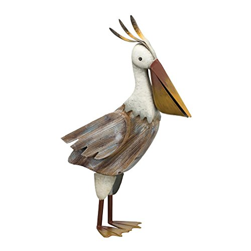 Regal Art & Gift Key West 15.75 inches x 6.25 inches x 24.5 inches Metal Wood Pelican – Coastal Bird Statuary