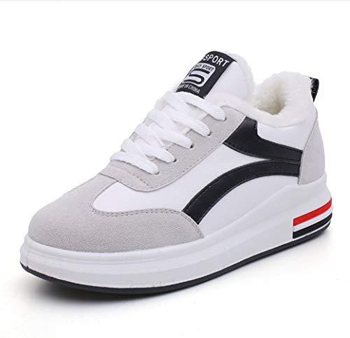 Blanco Y Casuales Calientes Señoras Terciopelo Algodón Deportes Zapatos Negro De Estudiantes Mujeres Invierno Liangxie 04qxw1ff