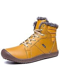 GLSHI Unisex Botas de Nieve para Exterior Winter High Top Plus Velvet Warm Travel Shoes Tamaño Grande