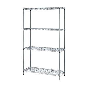 quantum 4 shelf wire shelving storage unit. Black Bedroom Furniture Sets. Home Design Ideas