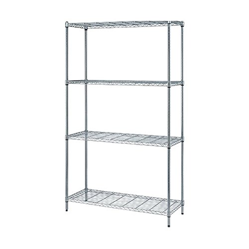Quantum Storage Wire Shelf - Quantum 4-Shelf Wire Shelving Storage Unit Chrome Finish 18