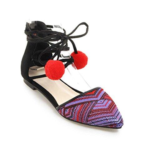 Scarpe tacco con largo da donna QPYC piatto romane ciondolo punta forma con studenti red tacco per Ciondoli tracolla a a di a Sandali 5EHwqwY