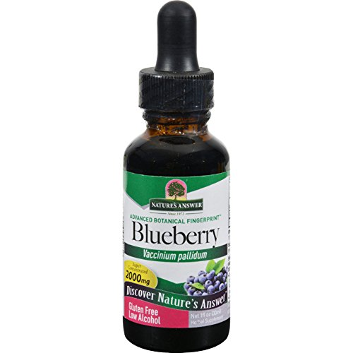 Natures Answer Blueberry Leaf - Super Concentrated 2000 mg - Gluten Free - Herbal - 1 fl oz (Pack of 2) Blueberry Leaf Extract
