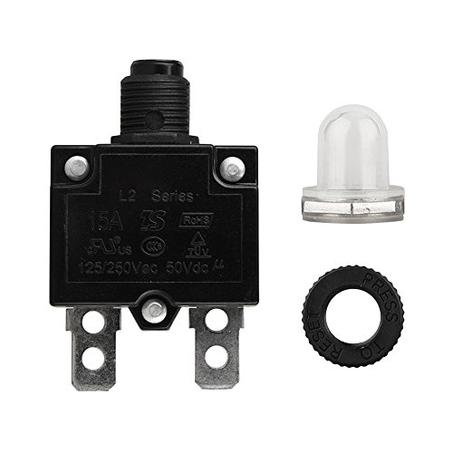 5A/10A/15A/20A/30 AMP Circuit Breaker Panel Mount Air Switch Resettable Thermal Fuse Circuit (Holder 15 Amp Panel Mount)