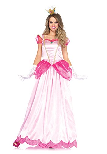 Princess Adult Halloween Costumes (Leg Avenue Women's 2 Piece Classic Pink Princess Costume, Pink, X-Large)