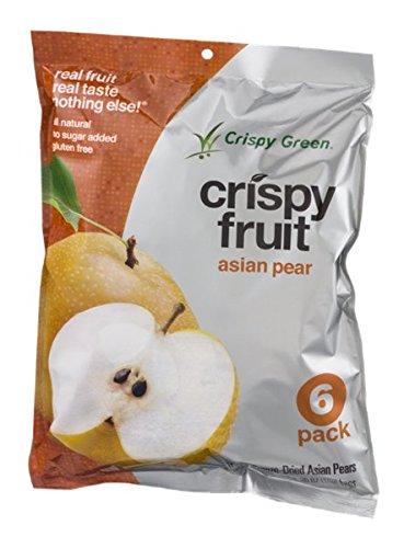 Crispy Green, Pears Asian, 0.36 Ounce, 6 Pack by Crispy Green