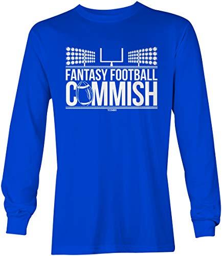 Fantasy Football Commish - Sports Gambling Unisex Long Sleeve Shirt (Royal, X-Large)
