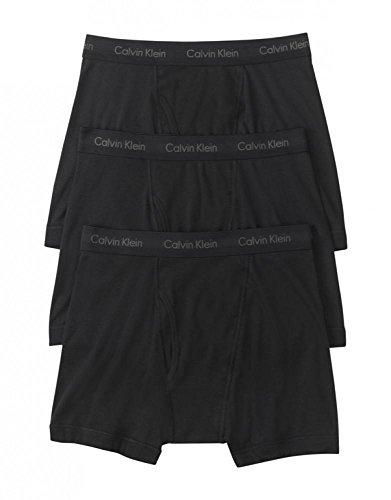 Calvin Klein Men's Underwear Cotton Classics Boxer Briefs - Large - Black (Pack of 3)