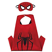 Superhero Cape & MASK Set Kids Childrens Halloween Costume Spiderman