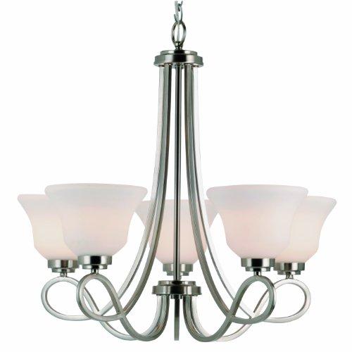 Trans Globe Lighting 9555 BN Indoor Infinity Chandelier, Brushed Nickel, 23.5