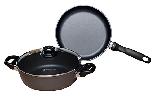 (Swiss Diamond 3 Piece Set: Fry Pan and Casserole)