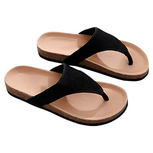 Da Moda Pantofole Donna Spiaggia Flip dimensioni Flops Estate Scarpe Sughero Nero 38 Huyp Ragazza Toe TvUTHw