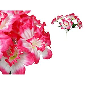 Tableclothsfactory 72 Artificial Daffodil Flowers for Wedding Arrangements - 12 Bushes - Fuchsia 27