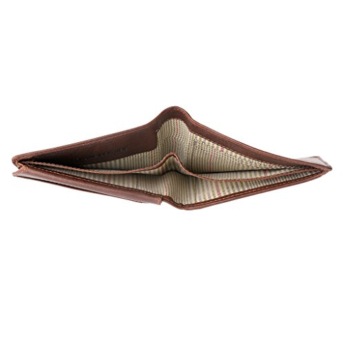 Men Holder Brown Denver Pelle Window Leather Card pocket Wallet ~ Coin ID in History with Nuvola for Genuine PtTxdwPaq