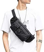 Large Waterproof Black Waist Bag Fanny Pack For Men Women Belt Bag Pouch Hip Bum Bag Chest Bag with Adjustable