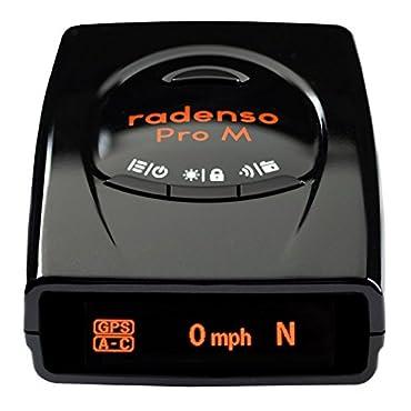 Radenso Pro M Extreme Range Radar & Laser Detector with GPS Lockouts, Red Light/Speed Camera Voice Alerts