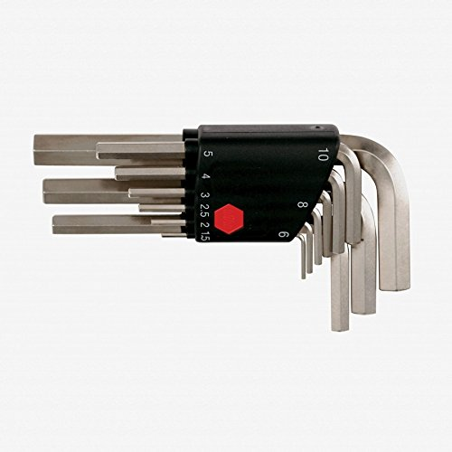 Wiha 35191 9-Piece Metric L-Wrench Set in Plastic (9 Piece Metric Short)