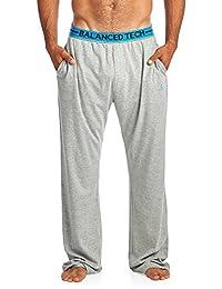 Balanced Tech Men's Solid Cotton Knit Pajama Lounge Pants