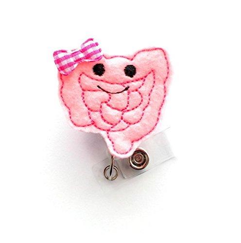 Carol the Colon Retractable Badge Reel - Fun Badge Holder - GI Badge Reel -  Medical Badge - Felt Badge - Intestine Badge Holder - Gastro ID