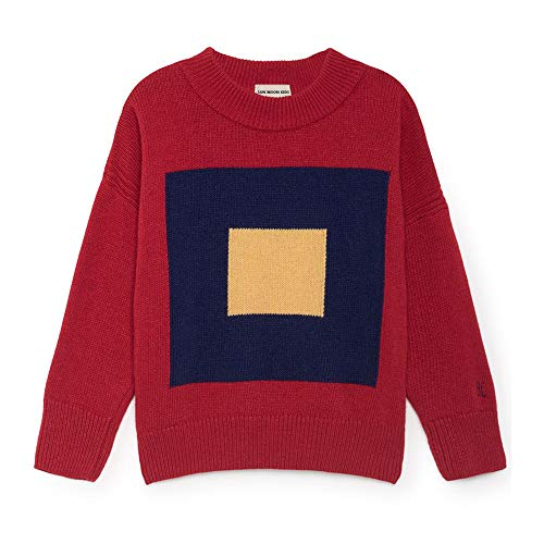 VIKITA 2017 Kid Girl Red SquareSweater Long Sleeve Girls Clothes SMK401 5T -