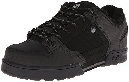 DVS Men's Militia Snow Action Sports Shoe,Black/Grey Leather Snow,8.5 M (Mens Militia Shoe)
