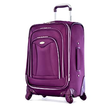Olympia Luxe 21 Inch Carry-On, Deep Purple, One Size