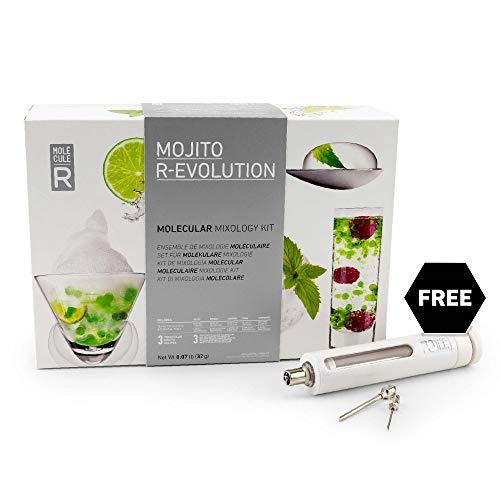 Molecule-R - Mojito Molecular Mixology Kit + FREE Culinary Syringe - Learn How to Make Mojito Bubbles - MOJITO R-EVOLUTION (How To Make R)