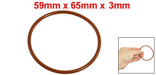 10x 65mm Outside Dia 3mm Thick Flexible Silicone O Ring Seal Brick Red